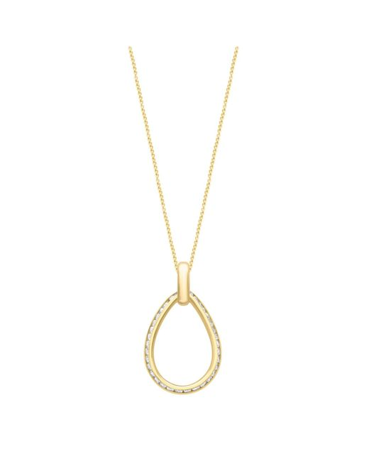 Ib&b | Metallic 9ct Gold Teardrop Pendant Necklace | Lyst