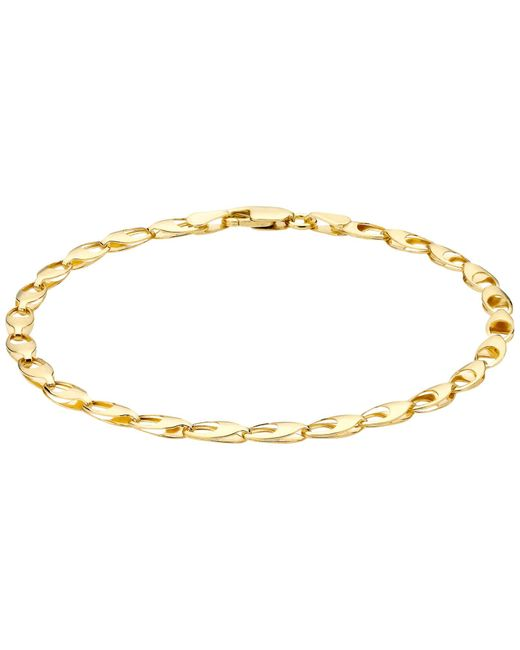Ib&b | Metallic 9ct Gold Oval Link Bracelet | Lyst