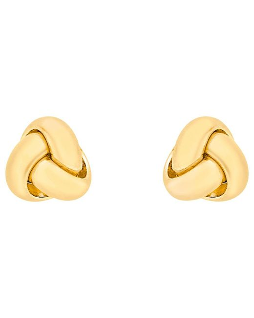 Ib&b | 18ct Yellow Gold Knot Stud Earrings | Lyst