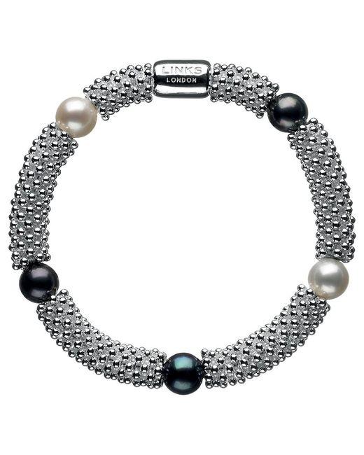 Links of London | Metallic Effervescence Star Pearl Bracelet | Lyst