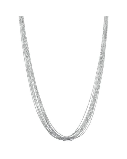 Links of London | Metallic Essentials Sterling Silver Silk 10 Row Necklace | Lyst