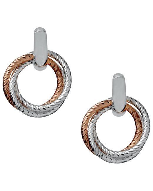 Links of London   Metallic Aurora Cluster Bi-metal Hoop Earrings   Lyst