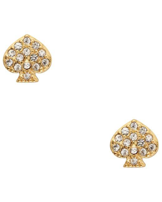 kate spade new york   Metallic Crystal Stud Earrings   Lyst