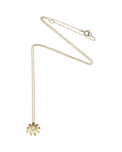 Estella Bartlett   Metallic Sterling Silver Vintage Flower Pendant   Lyst