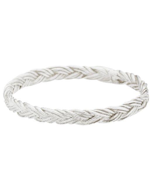 Estella Bartlett   Metallic Vintage Plait Sterling Silver Ring   Lyst