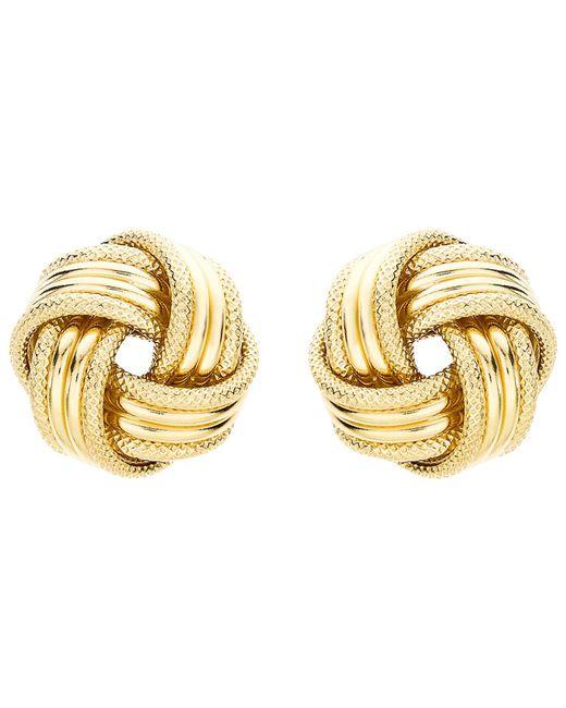 Ib&b - Metallic 9ct Gold Knot Earrings - Lyst