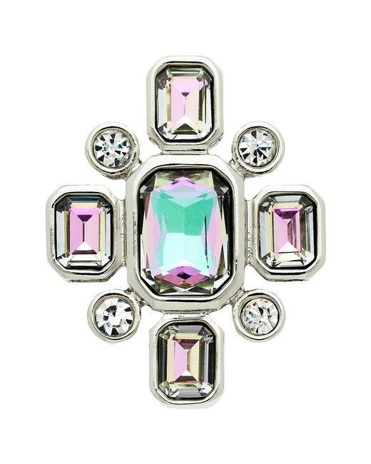 Monet | Multicolor Vitrail Glass Crystal Brooch | Lyst