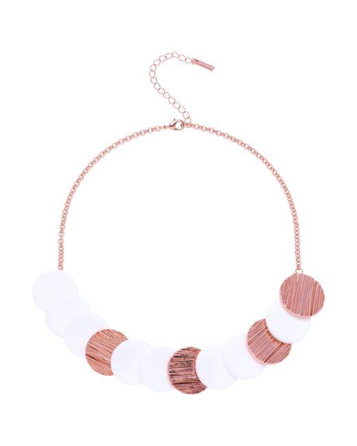 Karen Millen | Multicolor Textured Disc Necklace | Lyst