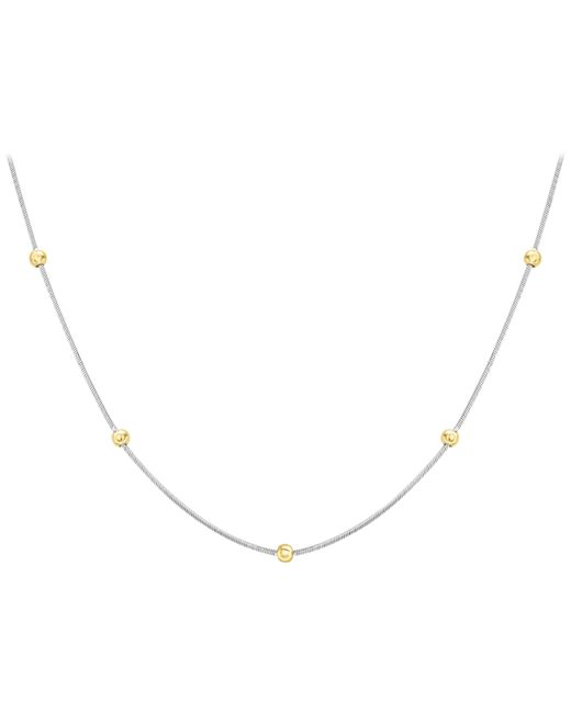 Ib&b - Metallic 9ct Gold Two Colour Hexagonal Snake Chain Necklace - Lyst
