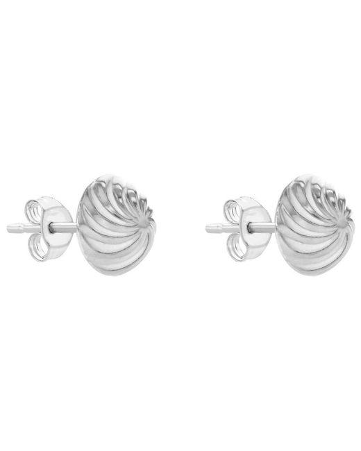 John Lewis - Metallic Ibb 9ct Gold Swirl Detail Dome Stud Earrings - Lyst