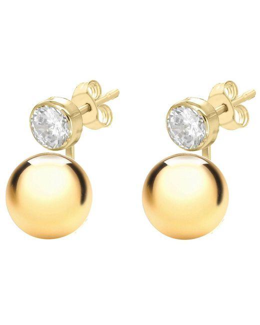 John Lewis - Metallic Ibb 9ct Yellow Gold Cubic Zirconia Ball Stud Earrings - Lyst