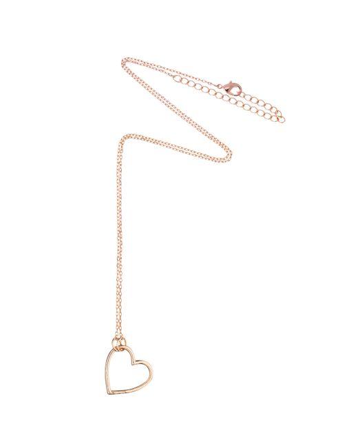 Estella Bartlett - Metallic Open Heart Pendant Necklace - Lyst
