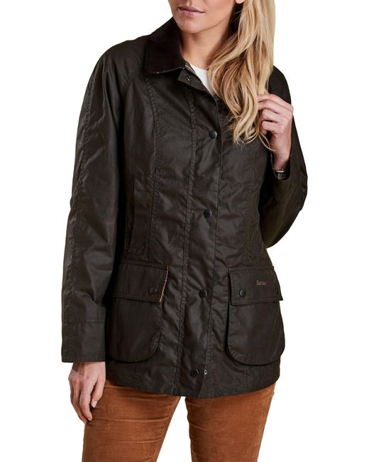 Barbour Green Classic Beadnell Waxed Jacket