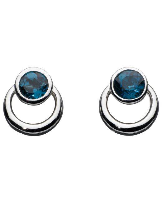 Kit Heath | Metallic Sterling Silver Simmer Loop Blue Topaz Earrings | Lyst