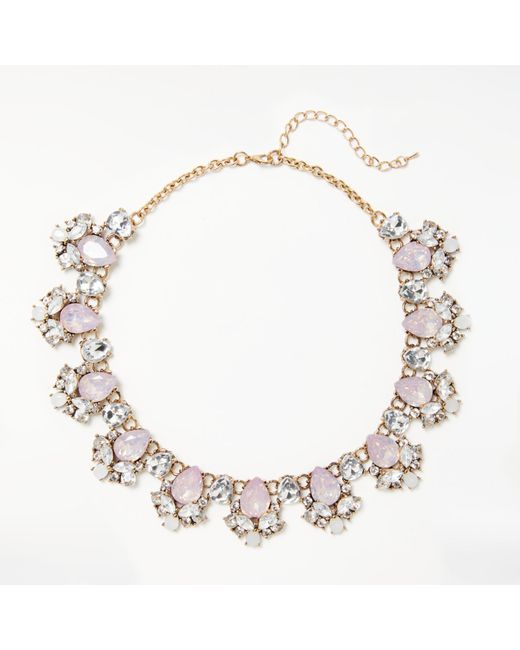 John Lewis | Multicolor Glass Crystal Collar Necklace | Lyst