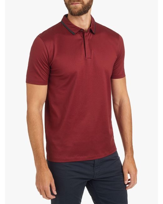 50acad6a1130 BOSS Hugo By Darseille Slim Fit Polo Shirt in Red for Men - Save 10 ...