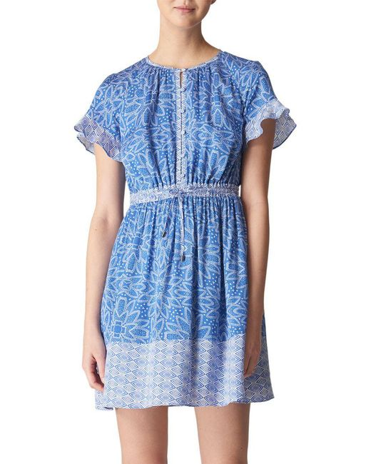 Whistles - Blue Riya Print Dress - Lyst