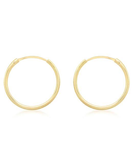 Ib&b | Metallic 9ct Gold Hoop Earrings | Lyst