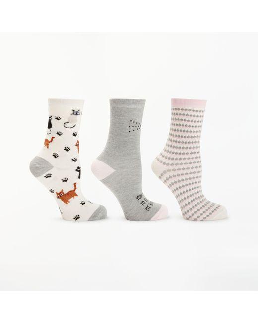 John Lewis - Multicolor Diamante Cat Ankle Socks for Men - Lyst