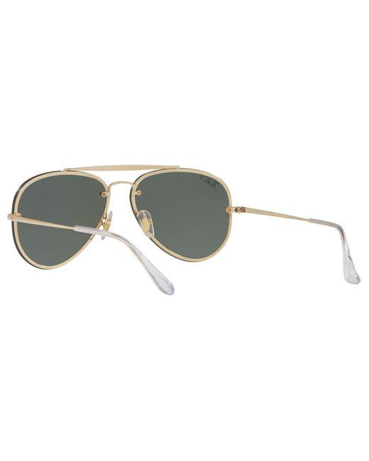 baacf560fce ... Ray-Ban - Metallic Rb3584n Blaze Polarised Aviator Sunglasses for Men -  Lyst ...