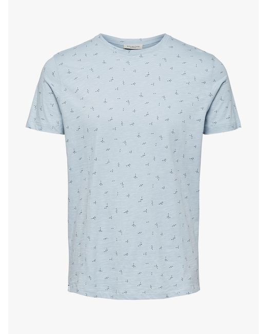 882e98596 ... SELECTED - Blue Oliver Abstract Print T-shirt for Men - Lyst ...