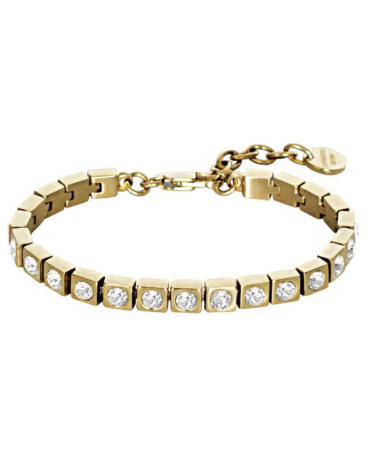 Dyrberg/Kern - Metallic Swarovski Crystal Tennis Bracelet - Lyst
