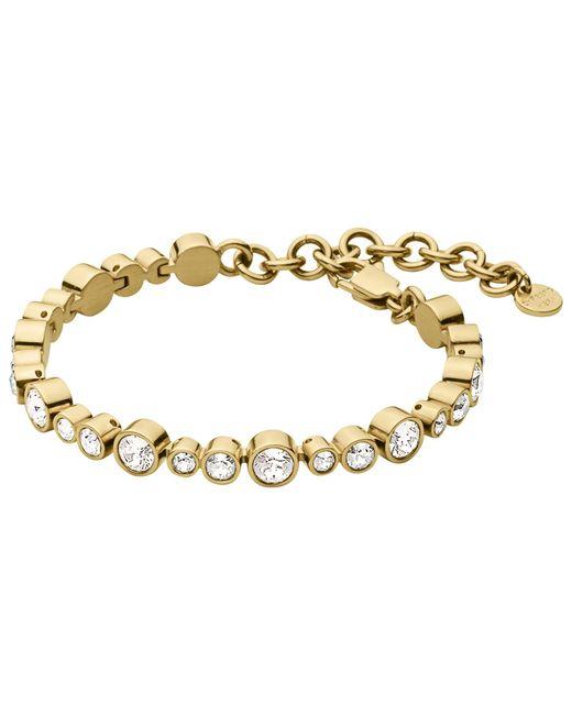 Dyrberg/Kern | Metallic Dyrberg/kern Teresia Swarovski Crystal Bracelet | Lyst