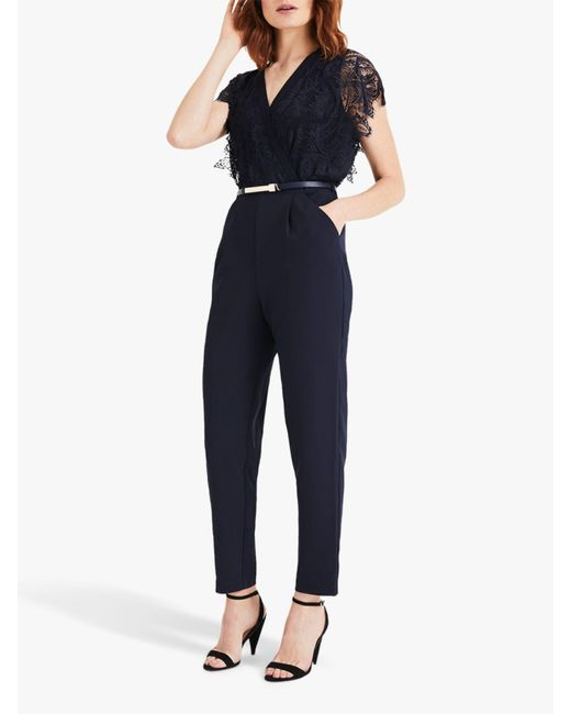 Phase Eight - Blue Amira Lace Top Jumpsuit - Lyst