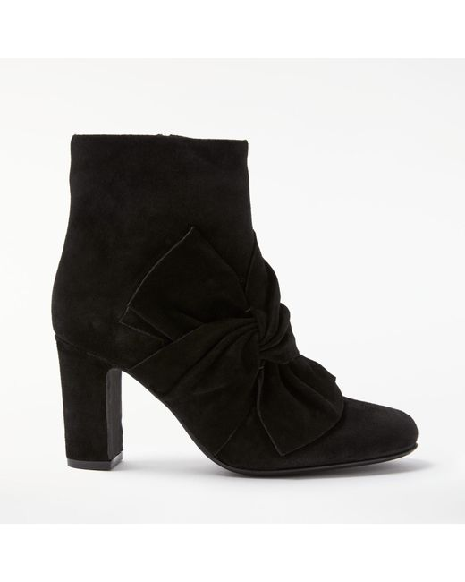 John Lewis   Black Odilia Block Heeled Ankle Boots   Lyst