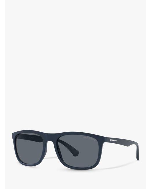 Emporio Armani Blue Ea4158 Square Sunglasses for men