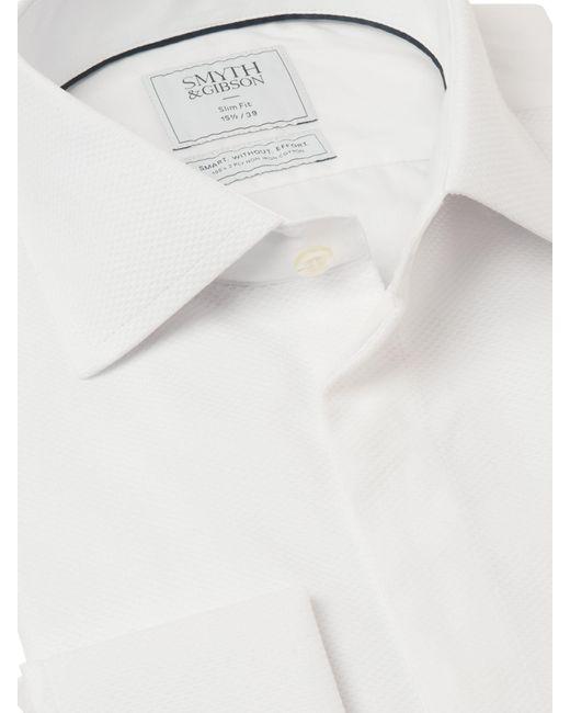Smyth & Gibson White Non Iron Marcella Slim Fit Dress Shirt for men
