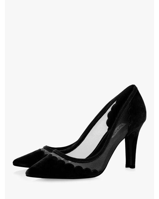 4ff28e295cc Dune Bellevue Semi Sheer Court Shoes in Black - Lyst