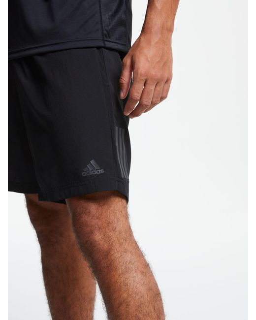 adidas Synthetic Own The Run Two in one Shorts in Black for