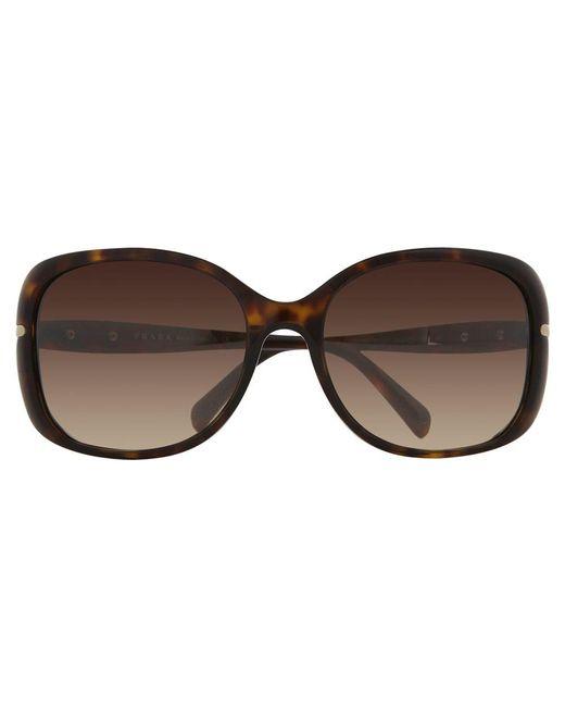 d70399d2ba6 Prada Pr08os Oversized Square Framed Sunglasses in Metallic - Lyst