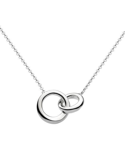 Kit Heath   Metallic Bevel Curve Interlink Ring Pendant Necklace   Lyst
