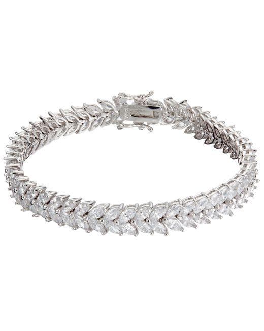 Ivory & Co.   Metallic Icon Marquise Cubic Zirconia Bracelet   Lyst