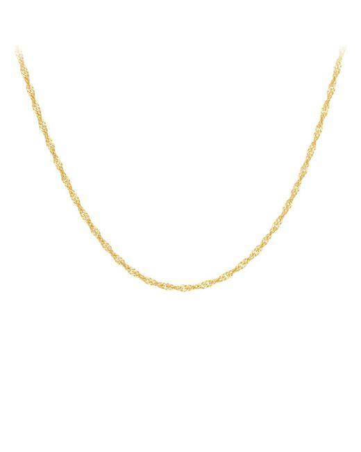 Ib&b - 18ct Yellow Gold Twist Curb Chain Necklace - Lyst