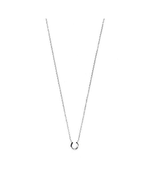 Estella Bartlett - Metallic Diamanté Horseshoe Necklace - Lyst