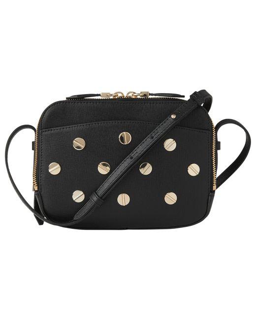 L.K.Bennett | Black Mariel Studded Leather Shoulder Bag | Lyst
