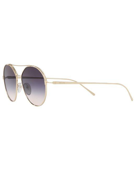 ec804117b0f2 ... Lyst Prada - Metallic Pr 56us Women s Oval Sunglasses ...