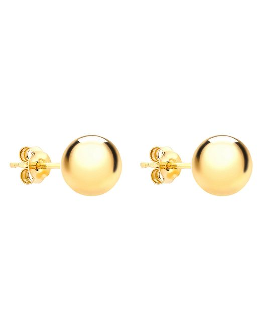 John Lewis - Metallic Ibb 9ct Yellow Gold 8mm Ball Stud Earrings - Lyst