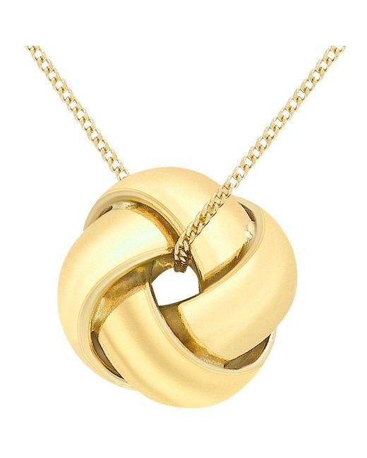 John Lewis - Yellow Ibb 9ct Gold Knot Pendant - Lyst