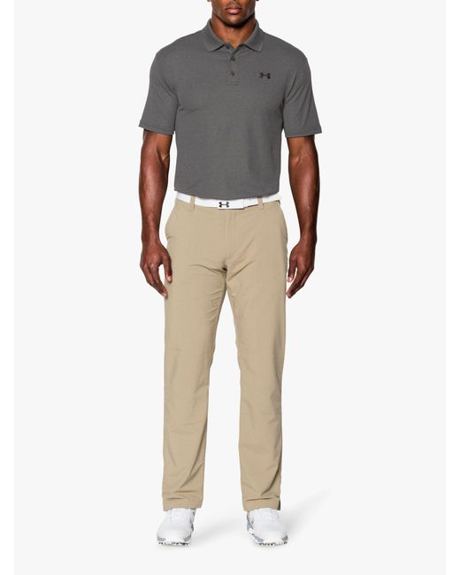 Under Armour - Gray Performance Polo Shirt for Men - Lyst