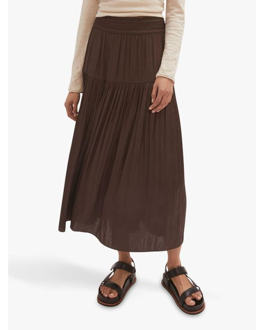 Jigsaw Brown Crocus Midi Skirt