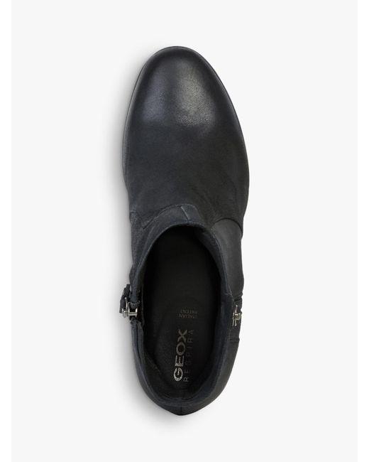 Geox Suede Women's Aneeka Ankle Boots in Black Lyst