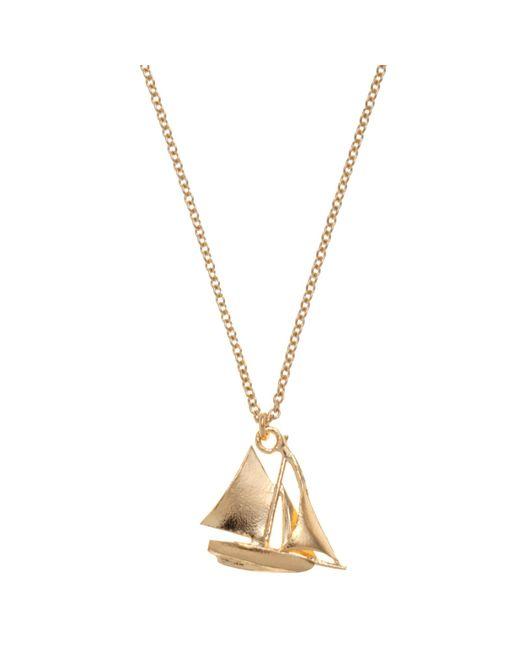 Alex Monroe | Metallic 22ct Gold Vermeil Sailing Boat Necklace | Lyst