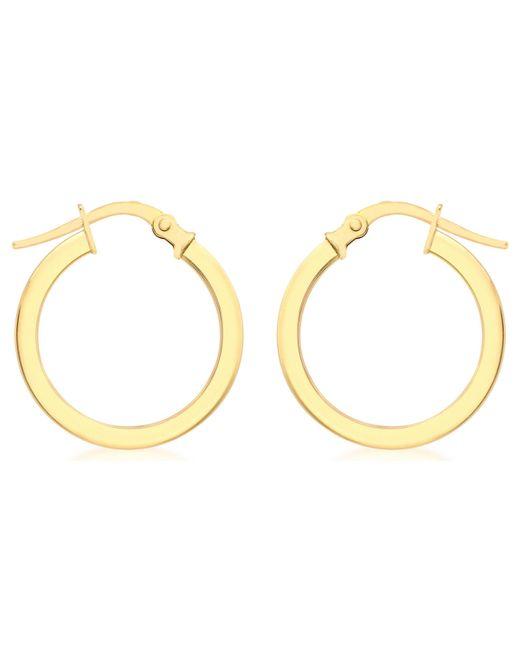 Ib&b - Metallic 9ct Yellow Gold Creole Leverback Hoop Earrings - Lyst