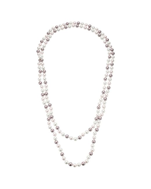 John Lewis | Pink Long Faux Pearl Necklace | Lyst