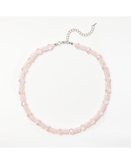 John Lewis | Pink Glass Crystal Collar Necklace | Lyst