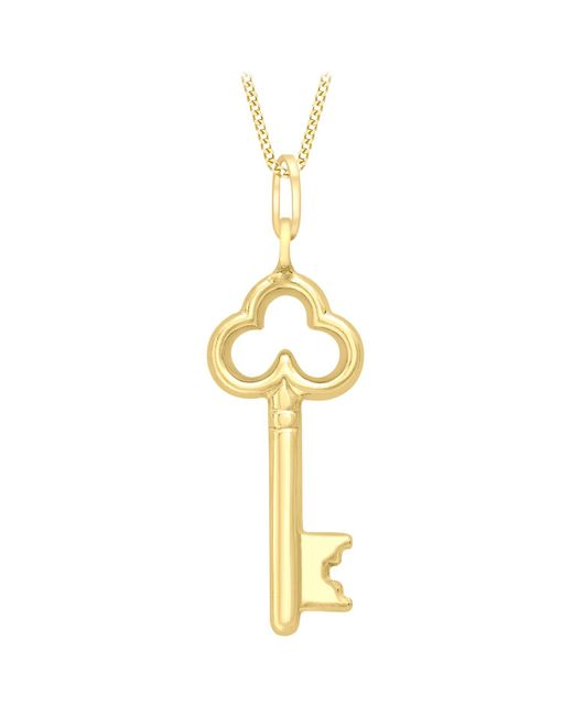 Ib&b   Metallic 9ct Gold Key Charm Pendant   Lyst